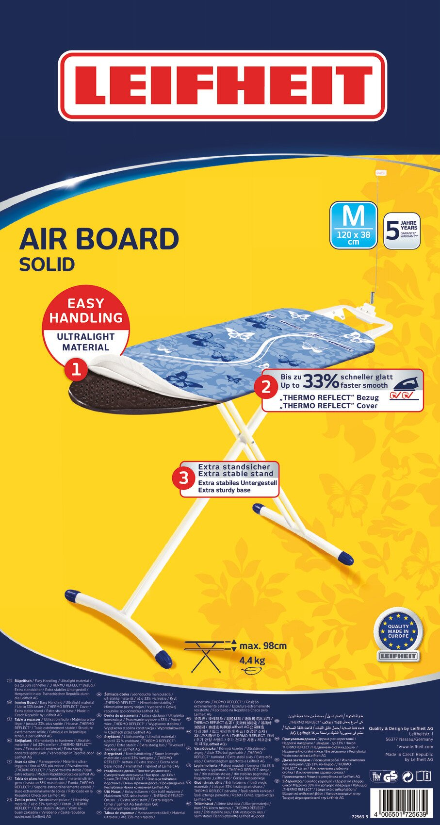 Deska do prasowania Leifheit 72563 Air Board M Solid